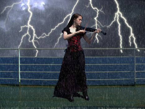 Music in the Rain by theatreshoes