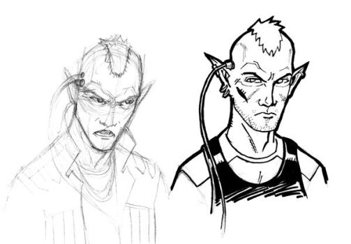 Shadowrun - Elf Sketches by IanMSimmons