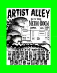 G-Fest 2014 ARTIST ALLEY Poster Map by kaijuverse