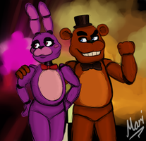 Bonnie and Freddy by Marindashy