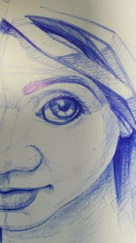 Sketch ballpoint pen detail 1 by slavoicus