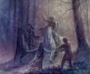 Beren and Luthien (WIP) by TurnerMohan