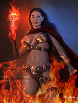Commission: Necromancer by 4steex