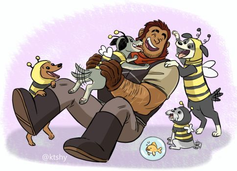 Burnsides and Bee Dogs by ktshy