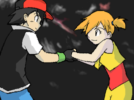 Ash and Misty - 4 by Shioulion