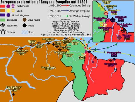 European Exploration of Essequibo until 1802 by xvinchox12