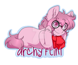 Badge Commission - Archie Flint by Twisted-Sketch