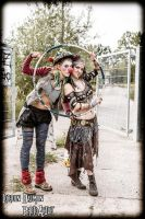 postapocalyptic circus - clown and belly dancer by SheevrasHain