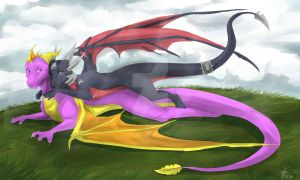 Spyro and Cynder by Etyhgmh66jhg1lpkjmn