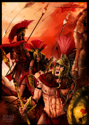Ares Enio and Phobos by rebenke