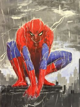 Spider-man in the rain by StudioCombine