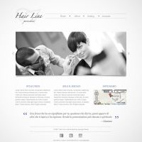 Hair Line - Website Mockup by lysergicstudio