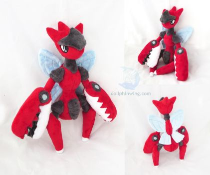 Mega Scizor Plush by dollphinwing