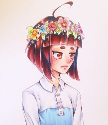 Flower crown to cure your frown (is it working) by HanaPiana