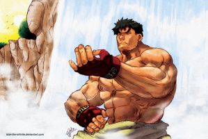 Ryu - warm up - color by BookerJ