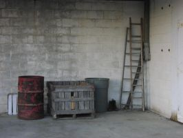 Crates and Ladders by Della-Stock