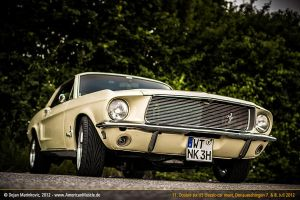68 mustang coupe with billet grille by AmericanMuscle