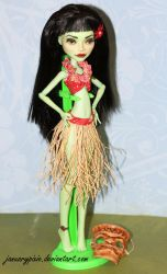Tiki Hula Girl - Monster High Repaint by PixiePaints