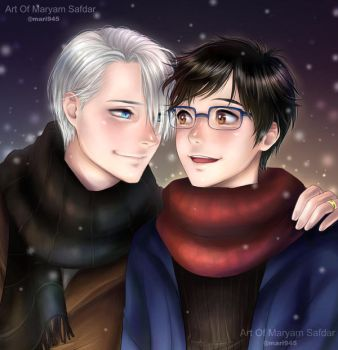 VIKTUURI in snow - yuri!!! on ice by Mari945