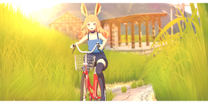 [ MMD art ] Walk by bicycle by KiraKoToVa