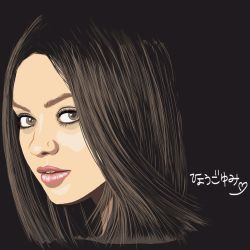 Mila Kunis on iPad by yumi71