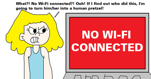 No Wi-Fi is Connected from Lori Loud's Laptop by MikeJEddyNSGamer89