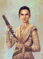 Rey Portrait by sugarpoultry