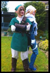 Link and Sheik by TheBlindProphetess