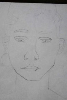 My attempt at Portrait Drawing by TitaniumFerrous