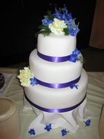 My First Wedding Cake by bssweets