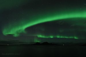 Northern Lights Above The Landegode Island by SindreAHN