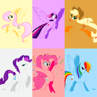 DS2 - MLP - Mane Six by omnomphenomenonArt