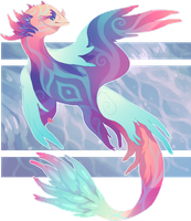 Mantikel Adopt || Chromatic Waters || CLOSED by TheRiversEdge