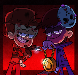 [MM] 'LOUD HOUSE' Art: Luan Krueger+Luna Voorhees by MAST3R-RAINB0W