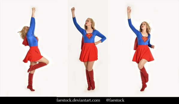 Supergirl  - Stock model reference pack 17 by faestock