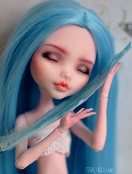 Sleeping OOAK Custom Monster High doll by Katalin89