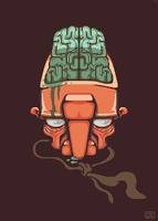 Noseman and His Brain by Mis-BUG