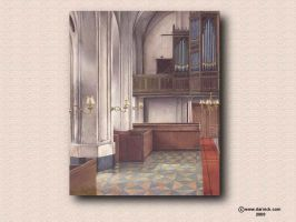 Cathedral Interior by darastean