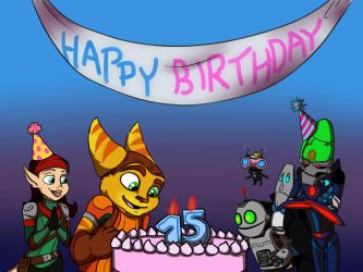 Ratchet and Clank 15th Birthday! by SpaceSheep-Art