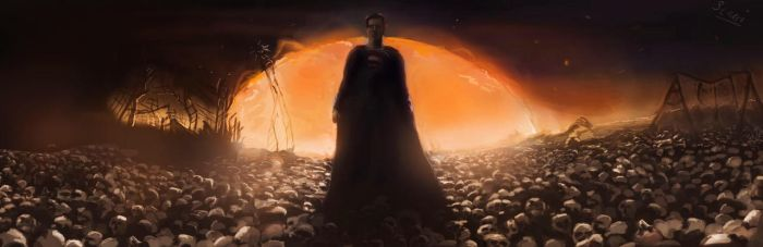 Man of Steel - Superman Dream Sequence by SalReaper666