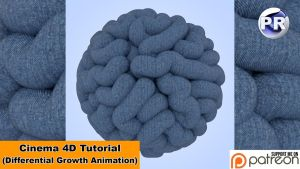 Differential Growth Animation (Cinema 4D Tutorial) by NIKOMEDIA