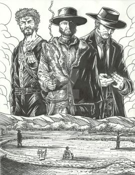 For A Few Dollars More Tribute-Inks w.i.p. by StevJVaz72