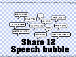 Share 12 Speech Bubble by Hayashi-Miria