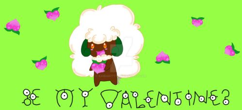 Whimsicott Valentine by KaibaKitty