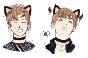 Taehyung sketches by SatanTae