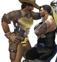 Hitting on Hanzo by strawberryjammer