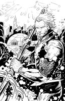 Aquaman: Inks by IronWarrior777