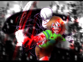 Chara and Gaster by TrashArc