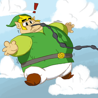 Toon Link getting some fresh air (maybe too much!) by The2DSilverHedgehog
