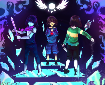 Deltarune x Undertale by Cryptic-Mystic